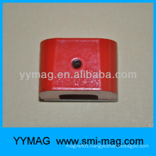 red color Alnico horseshoe magnet