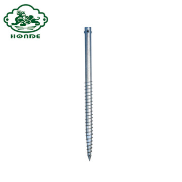 Solar Galvanized Steel Ground Screw Jangkar Kutub Daya