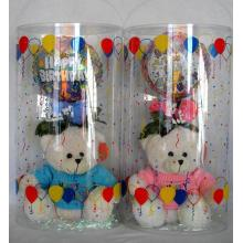 Plastic PVC cylinder box for christmas gift decoration