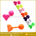 Neon Pink Anodized Surgical Steel Heart Shaped Piercing Ear Tragus