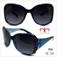 Gafas de sol de plástico de las señoras con el Rhinestone y el laser (WSP508364)