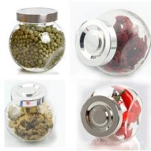 Vidro, alimento, jarro, armazenamento, conserva, vidro, jarros