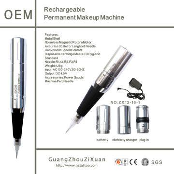 Wiederaufladbare Permanent Make-up Digital Tattoo Maschine (ZX1218)