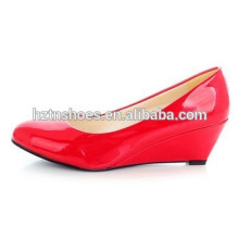 Fancy Ladies Wedge Pumps Round Toe Wedges Femmes Office Work Robe Chaussures Nude Color Lady Party Lampes Pompes