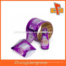 70% shrink rate plastic PET packaging label with customized design