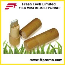 Zylinder Bambus & Holz Stil USB Flash Drive (D809)