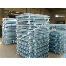 Equipamento do armazenamento do armazém que empilha a gaiola chapeada zinco do rolo de fio de Lowes