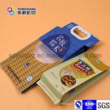 Saco de embalagens de plástico de arroz personalizado com alça
