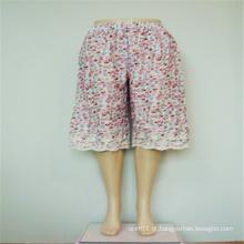 Calças de perna larga feminina impressas 100% algodão Cailco