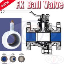 Flange PFA Lined Ball Valve for Chemical ANSI (FK)