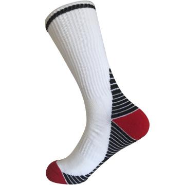Medio cojín poli moda rayas calcetines de deporte al aire libre (jmpod01)