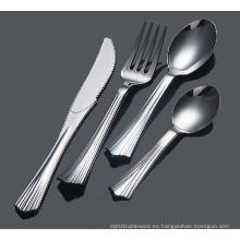 Cuchara plástica cuchara cuchara PS cuchillería plata