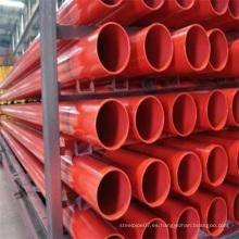 Sch10 ASTM A795 Tubería de acero para sistema de extinción de incendios por aspersión