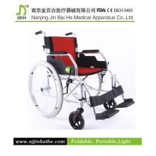 Cadeira de rodas manual leve dobrável