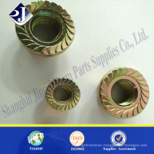 High strength flange nut Zinc finished flange nut Din6923 flange nut