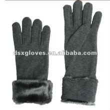 Gris hombres guantes de lana para el vestido de invierno