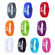Men Womens New Fashion Silicone Red LED Sport Bracelet Touch Digital Wrist Watch (DC-1102)