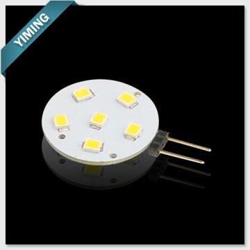 Round 1.2W 6pcs 2835SMD G4 LED Light