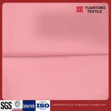 Poliéster rosa / tecido liso de algodão para a camisa