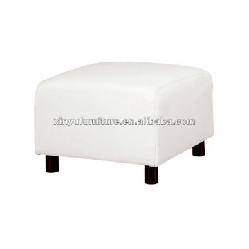 white vinyl leather cube ottoman XY3337