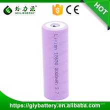 Bateria de lítio recarregável por atacado da capacidade 3000mah da fábrica uma bateria da pilha do li-íon da classe 18650 3.7v