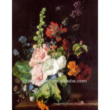 Pintura al óleo colorida de la lona de la flor para la venta
