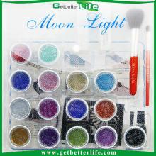 2015 mais recente tatuagem temporária shimmer kit de tatuagem de glitter