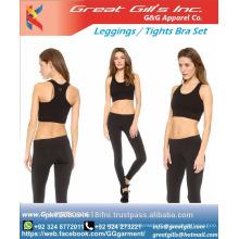 Running/Training/Yoga Women Sport Wear Vest Tank Top Long Trousers Out Fittness Legging Set