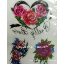 Роза временные татуировки стикер
