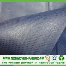 Tissu non tissé imperméable de polypropylène (pp + PE) pour le drap d'hôpital