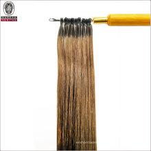 Silk Straight Natural Long 22inch Remy Human Virgin Hair Extension Micro Ring Hair
