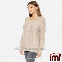 Топ продаж шотландский вязаный свитер для леди