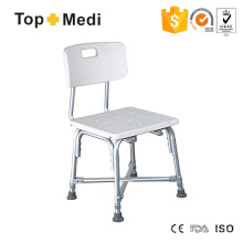 Topmedi Anti Slip Aluminum Shower Chair with Backest for Disabled