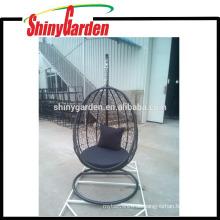 Patio-Weidenrattan-Schwingen-Stuhl-hängender Stuhl im Freien Ei-Geformter Pod Chair Hammock mit Kissen