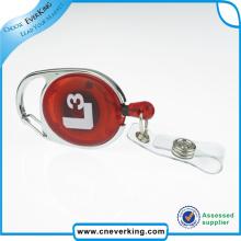 Carrete de encargo de la insignia de trabajo con el tenedor de la tarjeta del PVC