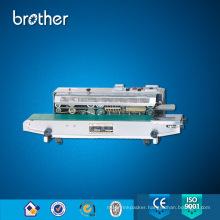 Horizontal Continuous Plastic Aluminum Foil Bag Heat Sealing Machine Band Sealer with Ink Wheel Code Printer