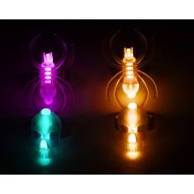Neu Item Glow Ring Set mit Totenkopf und Spinne für Halloween