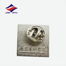 Schule benutzerdefinierte Silber quadratischen Revers Pin Schmetterling Verschluss