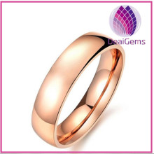 Classcial fashion stainless steel ring rose gold color