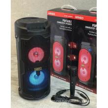 KMS-6682 Speaker Outdoor Portable Trolley Speaker DJ Speaker System Subwoofer Sound Box With LED Light