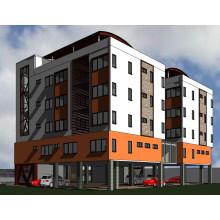 Apartamento pré-fabricado do aço do painel do cimento do EPS da luz