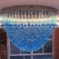 Современные Синий Стиль Отеля Декоративные Большие Кристалл Люстра