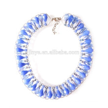 Big Bold Crystal Beaded Chunky Statement Necklace