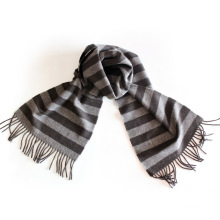 100% Lã de Iaque / Cashmere de Iaque para Homem / Cashmere Iaque Listrado / Cachecol de Lã de Iaque Quente / Tecido / Têxtil
