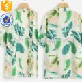 Tropical Print Kimono Manufacture Wholesale Fashion Women Apparel (TA3001K)