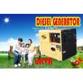 Воздушный охлаженный бесшумный дизельный генератор 5 кВт, 6 кВт в продаже!