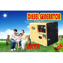 Gerador diesel silencioso refrigerado a ar 5kw, 6kw no estoque Venda quente!