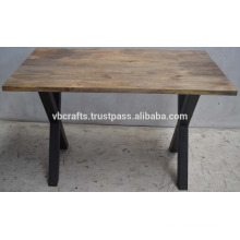 Industrial X Tube Base Dining Table