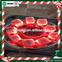 reine Kokosnussschale Größe 25 * 25 * 15mm Kohle für Shisha