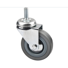 Grey Rubber Light Duty Industrial Caster